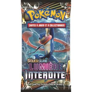 1 PAQUET DE 10 CARTES BOOSTER SUPPLEMENTAIRES POKEMON SL06 SOLEIL ET LUNE LUMIERE INTERDITE