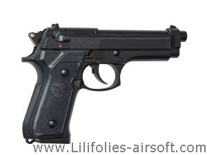 M92 NOIR GAZ ASG HEAVY WEIGHT LOURD 0.6 JOULE