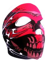 MASQUE DE PROTECTION INTEGRAL NEOPRENE DEATH ANGEL TRIBAL ROUGE DMONIAC