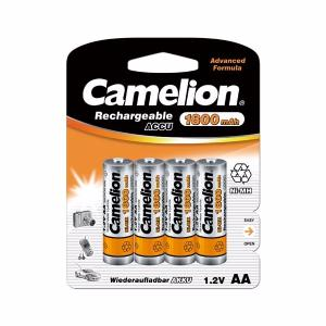BLISTER DE 4 PILES ACCUS RECHARGEABLES NI-MH 1.2V 1800 MAH AA R06 CAMELION