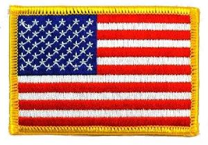 ECUSSON OU PATCH DRAPEAU USA BRODE A SCRATCH