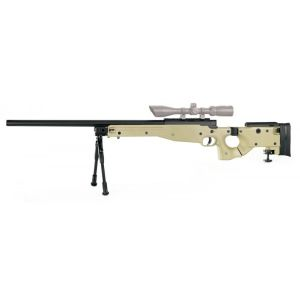MAUSER SR FOLDING STOCK TAN SPRING CHASSIS ET CANON METAL 1.9 JOULE + BIPIED METAL