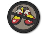 PATCH / ECUSSON PVC VELCRO NO CLOWN SHOES SWAT MSM
