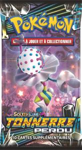 1 PAQUET DE 10 CARTES BOOSTER SUPPLEMENTAIRES POKEMON SL08 SOLEIL ET LUNE TONNERRE PERDU
