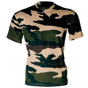 TEE SHIRT CAMOUFLAGE CENTRE EUROPE COL ROND ET MANCHES COURTES TAILLE XXL