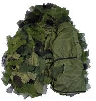 GHILLIE SUIT OAK LEAF 3D ( FEUILLE DE CHENE ) / TENUE DE CAMOUFLAGE 3 PIECES AVEC SAC DE TRANSPORT