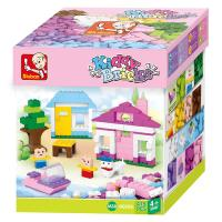 JEU DE CONSTRUCTION BRIQUE EMBOITABLE SLUBAN KIDDY BRICKS POUR FILLE 415 PIECES M38-B0503