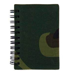 BLOC NOTE / CARNET A SPIRALE FORMAT A7 ( 10.3 X 7.1 CM ) 50 PAGES COUVERTURE CAMOUFLAGE WOODLAND
