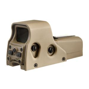 VISEE 552 GRAPHIC TYPE HOLOSIGHT POINT ROUGE ET VERT ALUMINIUM TAN AIM-O