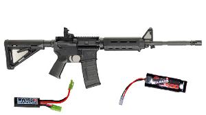 M&P15 MOE SMITH ET WESSON AEG METAL SEMI ET FULL AUTO HOP UP 1.1 JOULE + BATTERIE 1600 MH + MOSFET