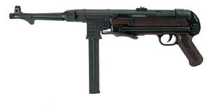 MP40 AEG FULL METAL SEMI ET FULL AUTO HOP UP BICOLORE NOIR ET MARRON 1 JOULE