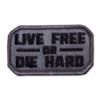 ÉCUSSON OU PATCH LIVE FREE OR DIE HARD ACU DARK MSM