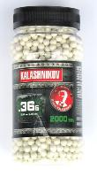 BILLES KALASHNIKOV 2000 X 0.36 G BLANCHES EN POT HAUTE PERFORMANCE