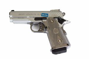 HI CAPA 3.8 BABY WE VERSION C ARGENT FULL METAL GAZ BLOWBACK HOP UP RAIL 0.9 JOULE