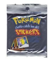 1 PAQUET DE 10 STICKERS / AUTOCOLLANTS POKEMON SERIE 1