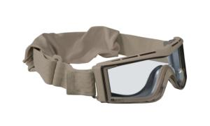 MASQUE TACTIQUE DE PROTECTION BOLLE X810 TAN VERRE TRANSPARENT AVEC ETUI ET SACOCHE RIGIDE