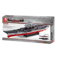 JEU DE CONSTRUCTION BRIQUE EMBOITABLE COMPATIBLE LEGO SLUBAN AIRCRAFT CARRIER PORTE AVION M38-B0388