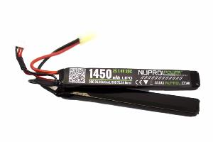 BATTERIE LIPO 7.4V 1450 MAH 30C 2 ELEMENTS NUPROL WE