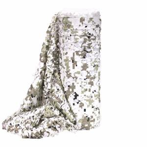 FILET CAMOUFLAGE SNOW DIGITAL BULK FACE BLANCHE A LA COUPE LARGEUR 2.4M X 2 METRES