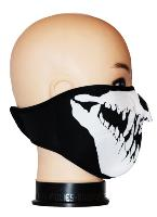 DEMI MASQUE DE PROTECTION NEOPRENE TETE DE MORT AVEC DENTS POINTUES
