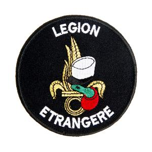 ECUSSON OU PATCH ROND DE LA LEGION ETRANGERE KEPI BLANC ET FLAMME DOREE SCRATCH