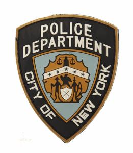 ECUSSON / PATCH 3D PVC POLICE DEPARTMENT CITY OF NEW YORK