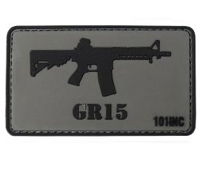 ECUSSON / PATCH 3D PVC SCRATCH GR15 RAIDER FUSIL D'ASSAUT 101 INC GRIS ET NOIR AIRSOFT