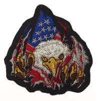 ECUSSON / PATCH BRODE USA EAGLE FRONT AIGLE AMERICAIN
