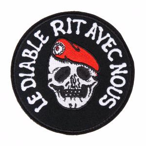 ECUSSON / PATCH 'LE DIABLE RIT AVEC NOUS' A SCRATCH