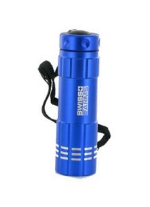 LAMPE TORCHE FLASHLIGHT 9 LED EN METAL BLEU