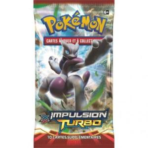 1 PAQUET DE 10 CARTES BOOSTER SUPPLEMENTAIRES POKEMON XY 08 IMPULSION TURBO