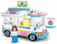 JEU DE CONSTRUCTION COMPATIBLE LEGO SLUBAN GIRL'S DREAM AMBULANCE M38-B0797 FIGURINE ARTICULE