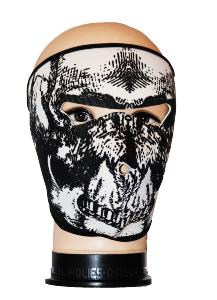 MASQUE DE PROTECTION NEOPRENE TETE DE MORT REALISTE