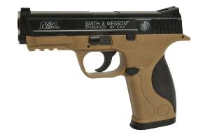 MP40 SMITH ET WESSON SPRING BICOLORE NOIR + TAN AVEC RAIL 0.5 JOULE