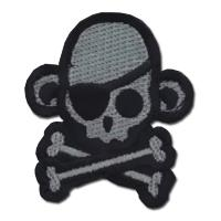 ÉCUSSON OU PATCH TÊTE DE MORT PIRATE SINGE MONKEY ACU DARK MSM