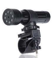 LAMPE TORCHE CAMERA ET MICRO PHOTO ET VIDEO 2GO AVEC FIXATION PIRANHA