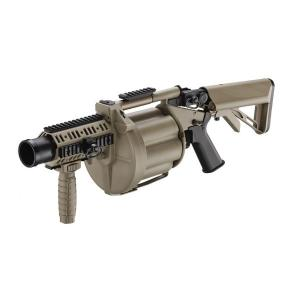 LANCE GRENADE MULTIPLE DESERT TAN ICS MGL AVEC RAIL