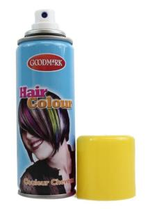 BOMBE SPRAY AEROSOL COULEUR CHEVEUX JAUNE 125 ML