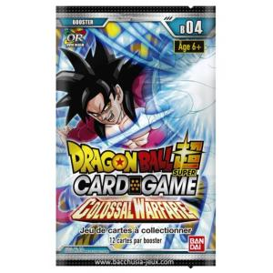 BOOSTER DE 12 CARTES SUPPLEMENTAIRES DRAGON BALL Z SUPER CARD GAME COLOSSAL WARFARE SERIE 4