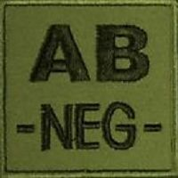 ECUSSON / PATCH OD VERT GROUPE SANGUIN AB - NEGATIF A SCRATCH