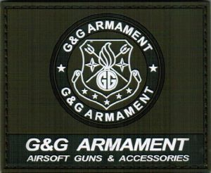 ECUSSON OU PATCH CARRE G&G ARMAMENT VERT SCRATCH