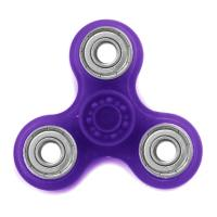 HAND SPINNER / TOUPIE A MAIN EN PLASTIQUE ET METAL TRANSPARENT UNI COULEUR VIOLET