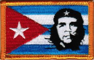 ECUSSON OU PATCH DRAPEAU CUBA AVEC CHE GUEVARA BRODE THERMO COLLANT