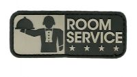 ECUSSON / PATCH RECTANGULAIRE ROOM SERVICE SWAT NOIR ET GRIS CLAIR A SCRATCH MSM