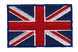 ECUSSON OU PATCH DRAPEAU ROYAUME-UNI BRODE THERMO COLLANT