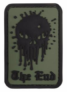 PATCH / ECUSSON 3D PVC SCRATCH TETE DE MORT THE END VERT