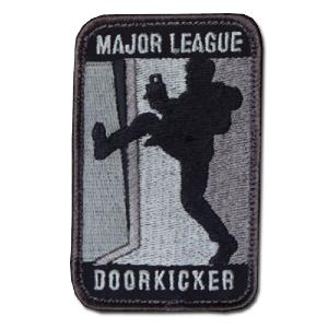ÉCUSSON OU PATCH MAJOR LEAGUE DOORKICKER ACU DARK GRIS NOIR MSM