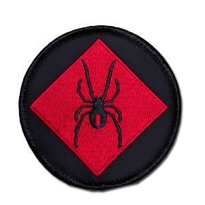 ÉCUSSON OU PATCH LOGO REDBACK ONE SPIDER ROUGE ET NOIR MSM