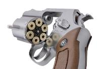 REVOLVER CO2 A BARILLET G731 SILVER CHROME G&G 1.5 JOULE